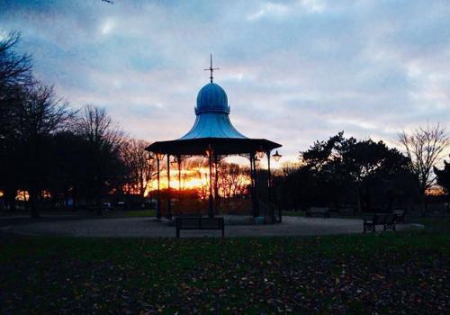 bandstand-sunset